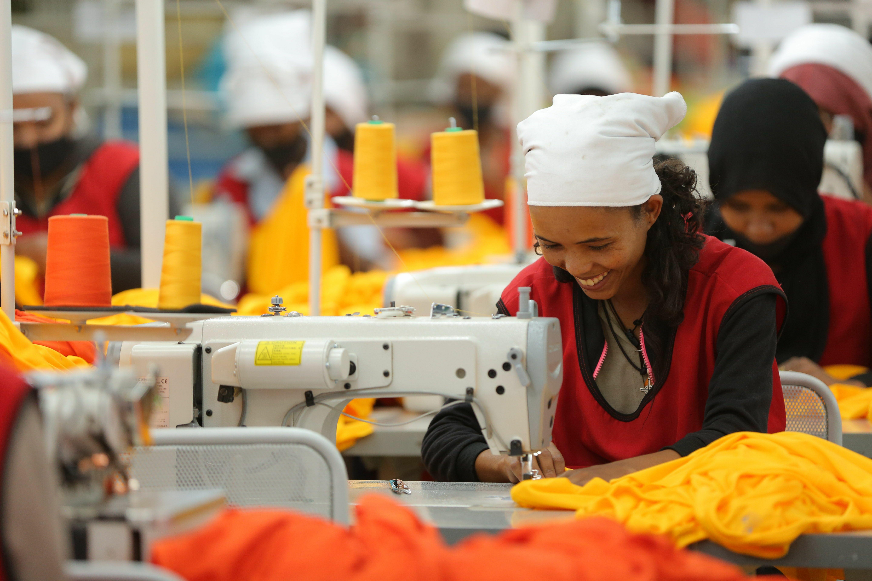 Angestellte bei DESTA in Äthiopien