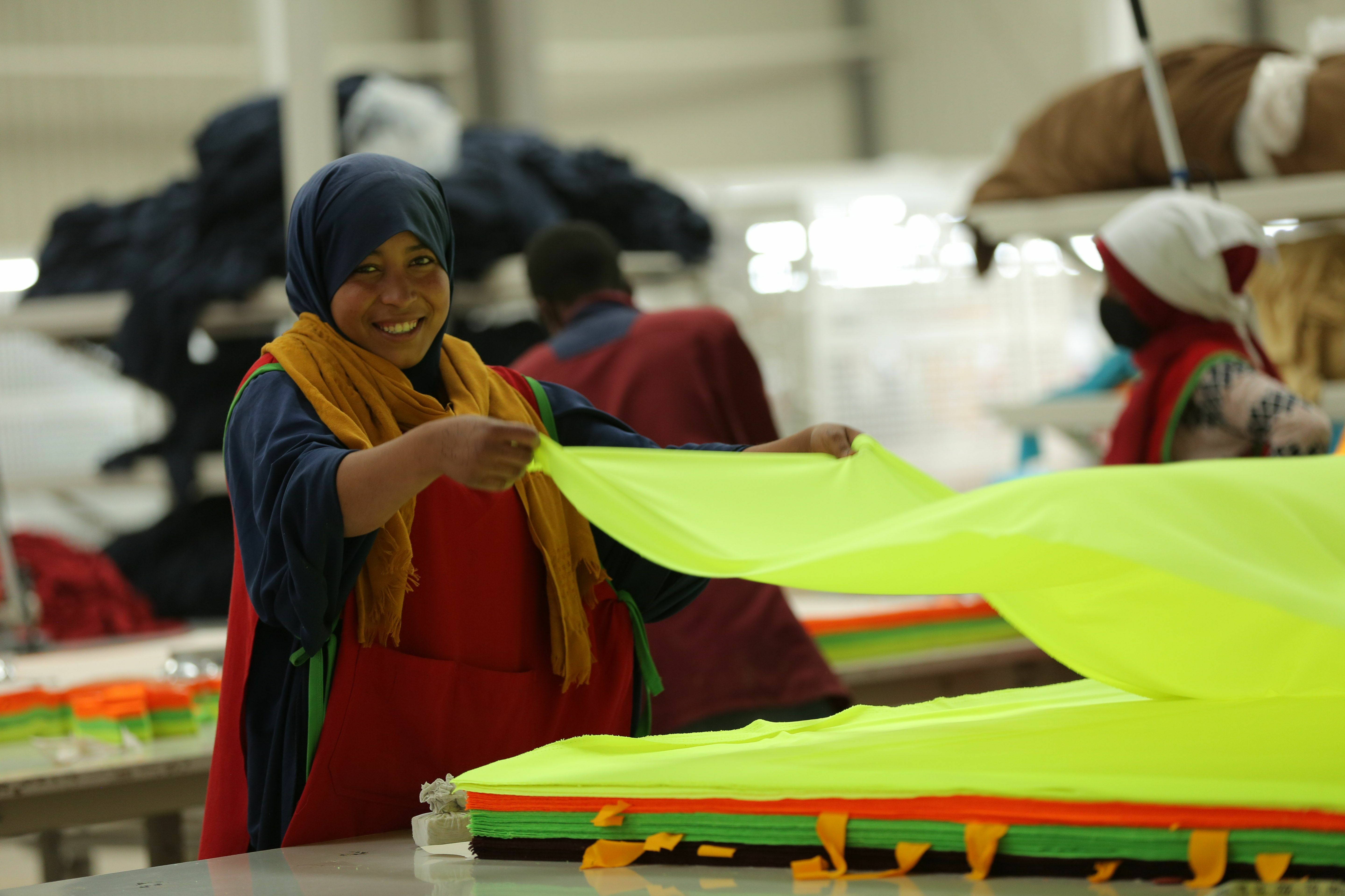 A Worker at DESTA factory in Ethiopia