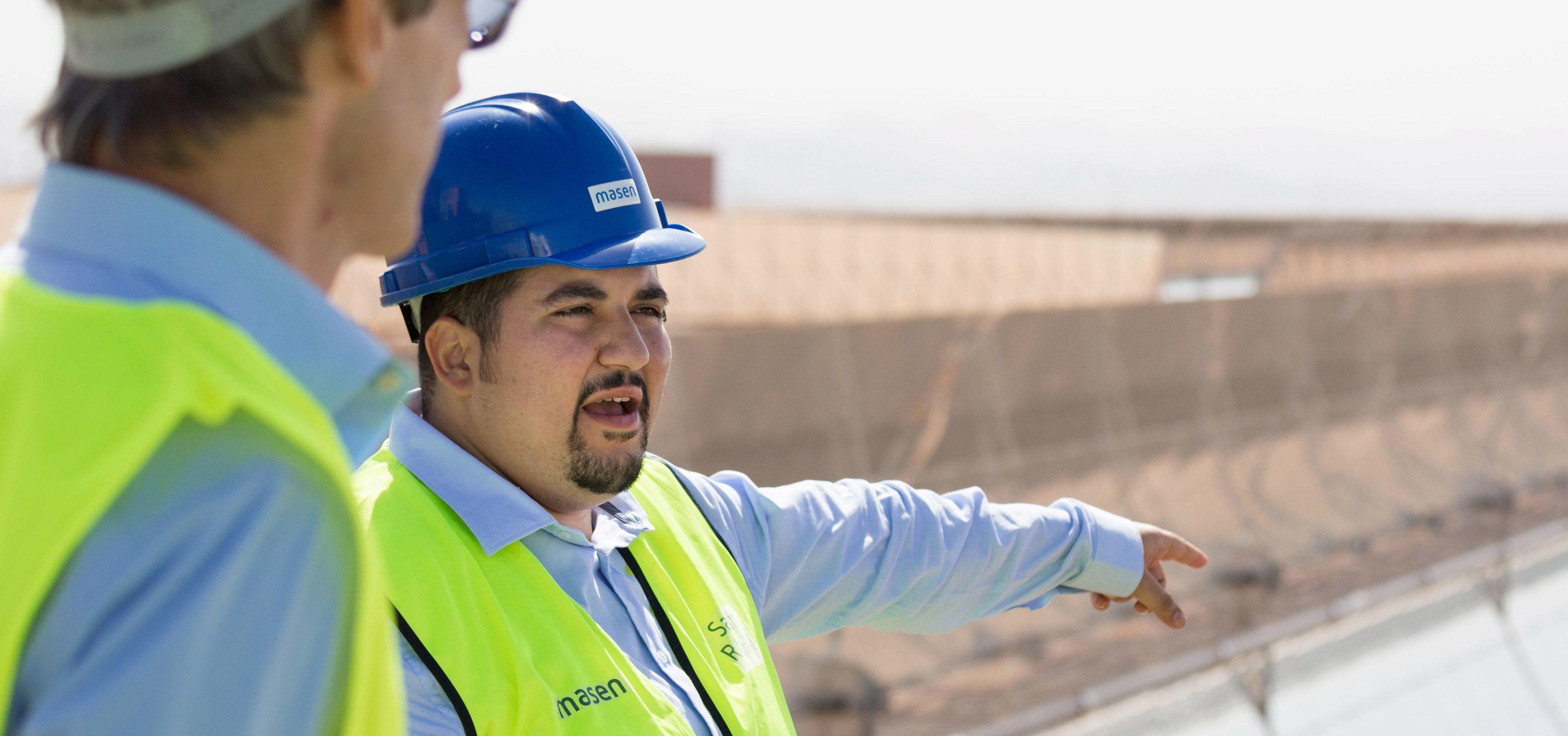 Bauarbeiter auf Baustelle in Marokko